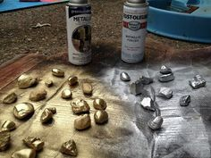 """Spray paint rocks and you have instant """"treasure"""" for your pirate theme classroom! Use it as decoration in a container or on a shelf. {broken link, picture only}"""
