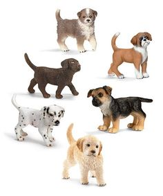 Look what I found on #zulily! Six-Piece Puppy Figurine Set by Schleich #zulilyfinds