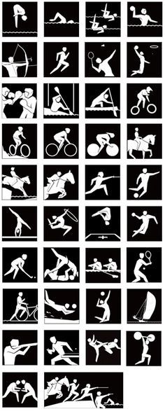 Did you know that all these sports are in the Olympics?? See how many you can get your child to recognize!     London Olympic Sports