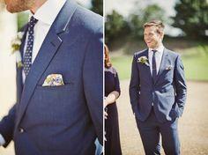 Groom: Reiss blue suit
