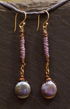 Lavender Moons Warrior Wrap Earrings with fresh by alccreations, $45.00