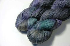 NEW Alpaca Silk Lace in Grey Lily Bouquet  One of a by Lichtfaden