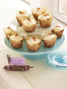 Carrot Cupcakes with Honey Cream Cheese - WomansDay.com
