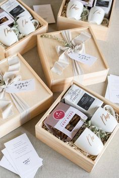 """Best Corporate Gifts Ideas Say the perfect """"thank you"""" with our signature gift box! Mini White Box with Lid, Hand-Poured Soy Candle in Marche Aux Fleurs Bride Gifts, Wedding Gifts, Wedding Card, Bride Box Gift, Wedding Gift Boxes, Trendy Wedding, Wedding Dress, Customized Gifts, Personalized Gifts"""