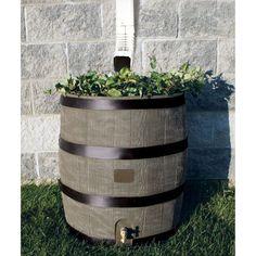RTS Round Rain Barrel with Planter - Deco