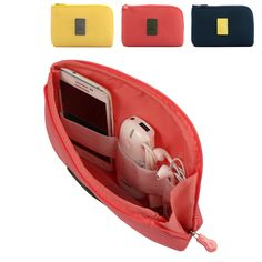 Cable Storage Box Portable electronic Organizer Gadget electronic Travel bag USB Earphone 22x15cm CP0985
