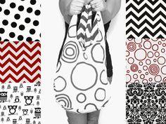 Cross Body Reversible Hobo Bag Sling Purse by SmiLeaGainCreations, $40.00