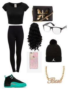 """""""I got those shoes"""" by mynameisyaya ❤ liked on Polyvore featuring Pieces, Gucci, Charlotte Russe, Skinnydip and Jordan Brand"""