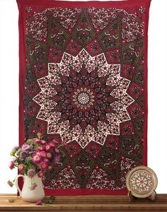 Handmade Ambi Mandala Tapestry Wall Hanging d9d367a23a