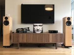 ikea stockholm - M - Room Interior Design, Furniture Design, Sound Room, Tv Wand, Audio Room, Home Pictures, Ikea Stockholm Sideboard, Auditorium, Living Room