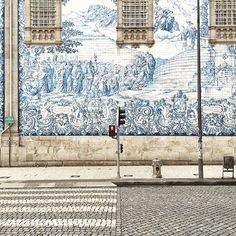 . Ancient walls Porto, Portugal  - #porto #portugal #oporto #tiles #tilesaddiction #azulejos #handmade #artisan #crafts #street #city #citystyle #color #colorlovers #travel #travelgram #wanderlust