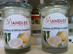 Bamboo & White Grapefruit Candle  Mandles by ReclamationCandleCo, $15.00