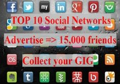 I will create 10 backlinks on to social bookmarks websites for