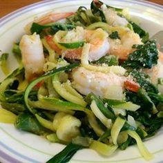 "Shrimp Florentine with ""Zoodles"" Zucchini Noodles - Allrecipes.com"