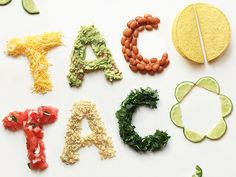 Mouth-Watering Typography Made Of Fresh Ingredients Spell Out Food Words – Henry Aquino