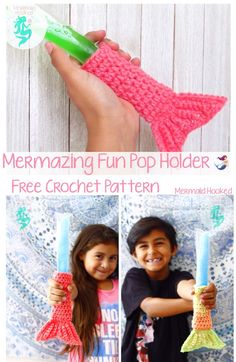 Mermazing FunPop Holder Pattern – *~ Mermaid Hooked ~*