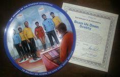 Star Trek Collector Plate - Beam Us Down Scotty on Etsy