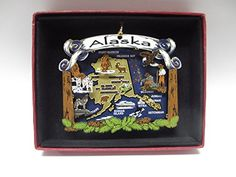 We collect these ornaments wherever we've traveled or lived.  It makes for nice memories when you hang them on the tree each year.  Alaska State Brass Christmas Ornament Travel Vacation Souvenir Nations Treasures http://www.amazon.com/dp/B00SM1D2TK/ref=cm_sw_r_pi_dp_6IT4wb0XN8K9E