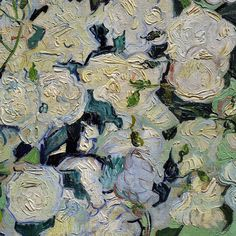 A Vase with Roses (detail) by Vincent van Gogh