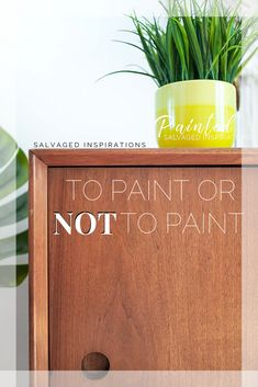 To Paint or Not To Paint| Curbside MCM Cabinet | Salvaged Inspirations    #MCM #mcmcabinet #nopaintneeded #curbsidecabinet Raw Wood Furniture, Unfinished Wood Furniture, Painting, Inspiration, Home Decor, Biblical Inspiration, Homemade Home Decor, Paintings, Interior Design