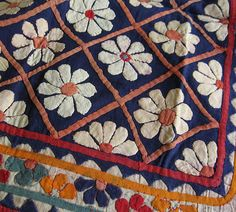 antique hand appliqued wall hanging from Gujarat India