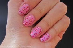 After School's Lizzy Pink Leopard Nails