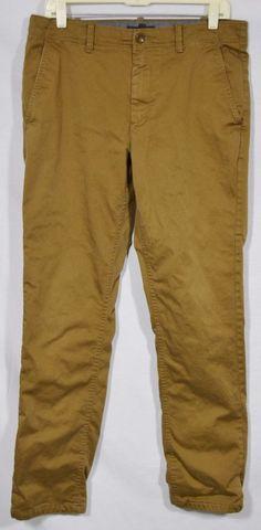 BANANA REPUBLIC Men's Brown Aiden Chino Pant 31 Waist 32 Inseam Flannel Lined #BananaRepublic #KhakisChinos