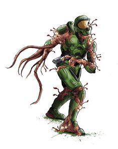 Master chief vs xenomorph - So many things about this are ...