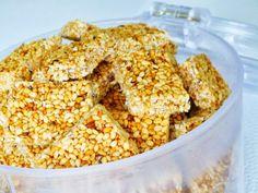 Paleo recept: Sezamky aneb zdravé mlsání / Sesame biscuits