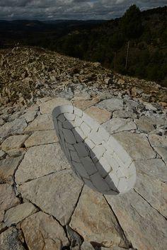 Le land art d'Andy Goldsworthy au cinema Land Art, Landscape Art, Landscape Design, Andy Goldsworthy Art, Environmental Sculpture, Art Environnemental, Sculpture Metal, Arte Tribal, James Turrell