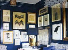 Blue Salon Style Wall