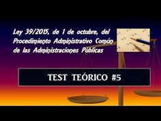 Test teórico comentado: Ley 39/2015 #5 - YouTube Youtube, Yogurt, Law, Secretary, Law