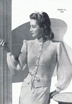 1940s Vintage PDF Knitting Patterns PDF by GrannyspdfPatterns