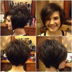 Short, sassy brown hair #pixie-ish