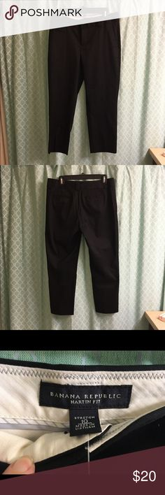 "Banana Republic Pants Black BR Cropped pants (just above ankle). Martin fit, stretch. Inseam about 25"". New with tags. Banana Republic Pants Ankle & Cropped"