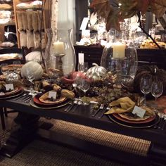 Pottery Barn Tablescapes