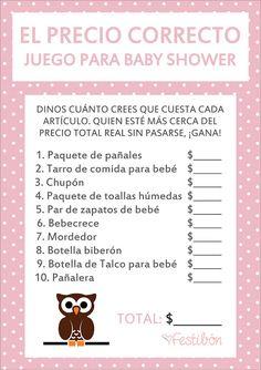 JUEGOS PARA BABY SHOWER GRATIS