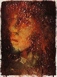 """""""Fusion 29"""" von Matthias Triet   Acryl geschliffen auf Aquarellpapier   24 x 32 cm   www.einfachKunst.ch   Art   Basel   Schweiz"""