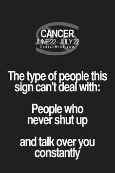 Zodiac Mind - Your source for Zodiac Facts Cancer Zodiac Facts, Cancer Traits, Cancer Horoscope, Cancer Quotes, Pisces, Zodiac Mind, My Zodiac Sign, Zodiac Quotes, Frases