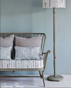 Annie Sloan fabrics and Chalk Paint® liven up this room. Visit ThomasMachInteriors.com to order your paints and supplies.
