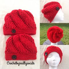 This hand crocheted embossed style beanie hat set is the one of a kind gift for mommy and daughter. Hand crocheted with chunky yarn that is extra soft for comfort and warmth.This hat makes a fantastic gift, purchase one for yourself or both. They are so cute, comfy, and perfect for