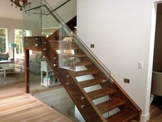 Frameless transparent glass handrail with glass  railing system
