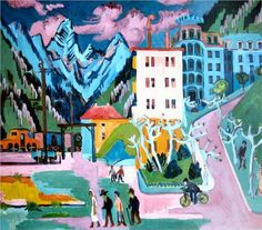 Station in Davos - Ernst Ludwig Kirchner, 1925.  Professional Artist is the foremost business magazine for visual artists. Visit ProfessionalArtistMag.com.