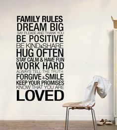 Family+Rules+Inspirational+Quote+Home+Decor+by+decalSticker,+$56.90