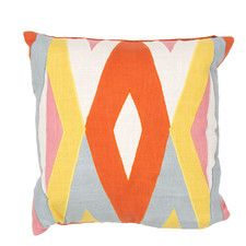 En Casa By Luli Sanchez Tribal Pattern Cotton Throw Pillow