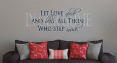IN OUR HOME Vinyl Wall Art, Family Wall Art, Living room Vinyl Saying