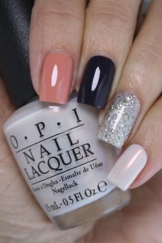 Hey Dolls! I have my first skittle mani of 2018 to share with you today! I wanted something nude-ish and sparkly. I chose (all OPI's) from pointer to pinkie: I'll Have a Gin & Tectonic from the Icela