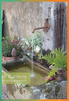 water feature - Rustic water feature -Rustic water feature - Rustic water feature - Trog, Tröge, antike brunnen Outdoor Water Fountains -DIY Landscape Design & Backyard Ideas Unordinary Zen Water Fountain Ideas For Gar.
