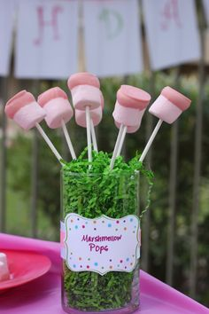 Ava's 1st Birthday Party- marshmellow pops labels by @Kim -  The TomKat Studio