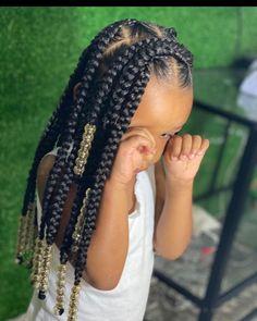 Short Box Braids Hairstyles, Hair Ponytail Styles, Black Girl Braided Hairstyles, Baby Boy Hairstyles, Kid Braid Styles, Little Girls Natural Hairstyles, Cute Hairstyles For Kids, Little Girl Braids, Hair Flip